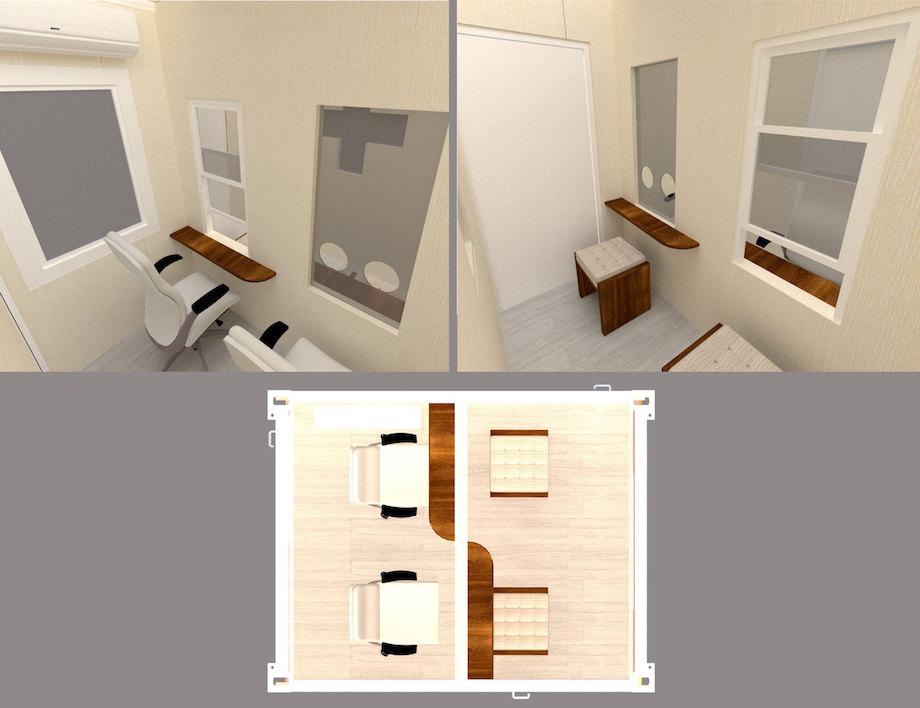 ヴィガラクス / 建築用コンテナ転用 陰圧設備内蔵小型診療所「モバイルクリニック™LITE」
