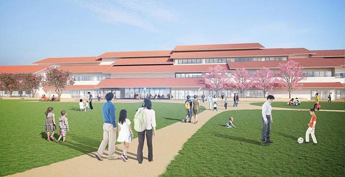「石垣市新庁舎」イメージ(設計:隈研吾建築都市設計事務所)