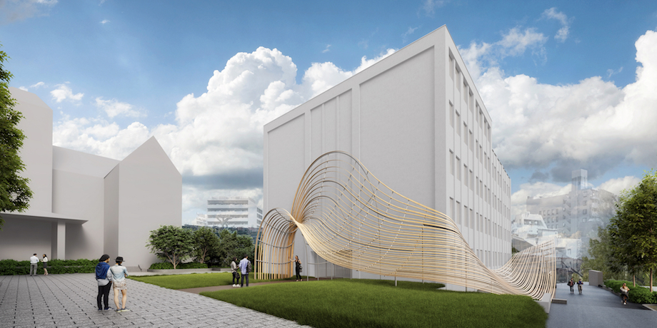 早稲田大学キャンパス内4号館 国際文学館(村上春樹ライブラリー)外観イメージ