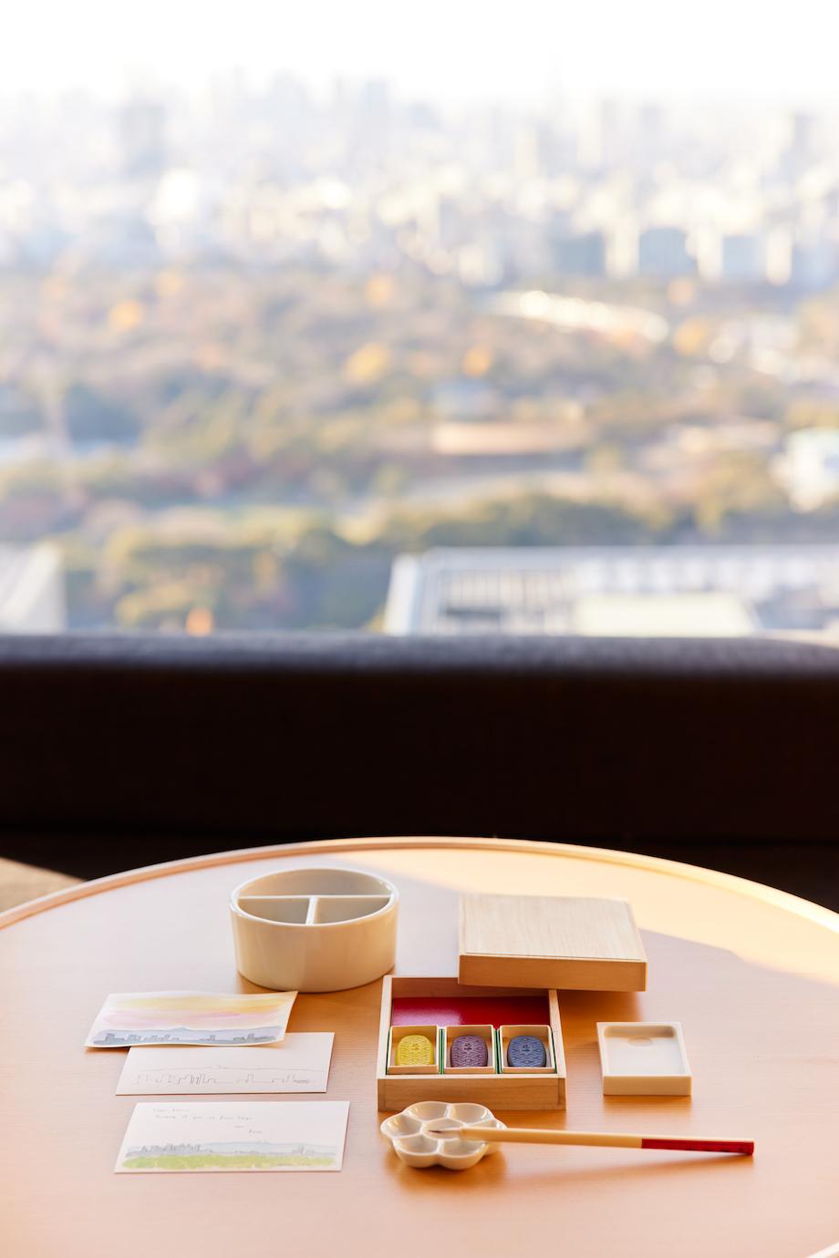 アマン東京×PIGMENT TOKYOコラボ企画 宿泊プラン「絵てがみ時間 at アマン東京」