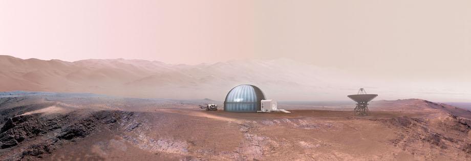 火星移住計画イメージ ©NASA /Clouds AO(デザイン:曽野正之)
