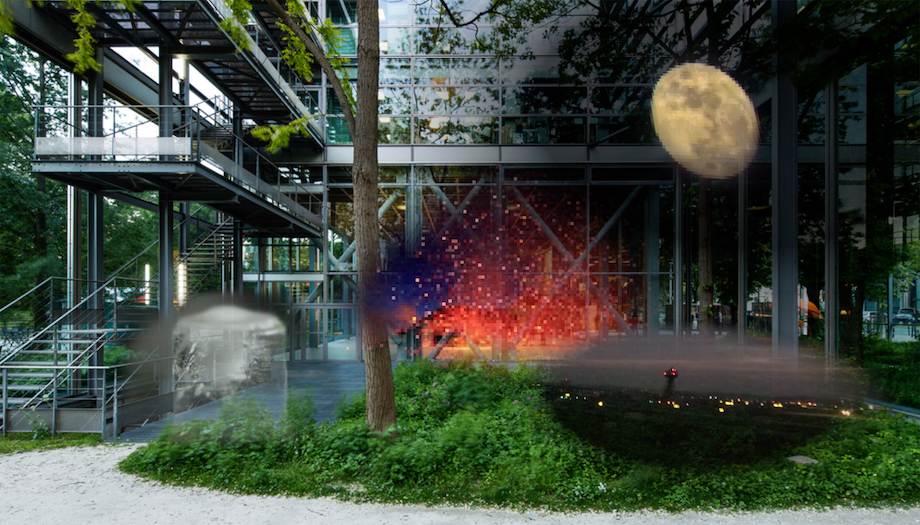 カルティエ現代美術財団 Sarah-Sze ARアプリ「Night Vision 20/20」イメージ