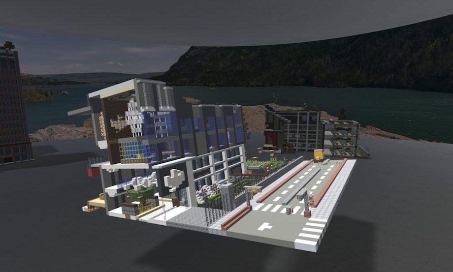 「Minecraft カップ 2020」ファイナリスト作品の例