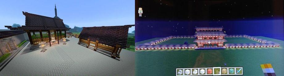 Minecraft (マインクラフト)教育現場での導入事例(麗澤中学校)生徒作品