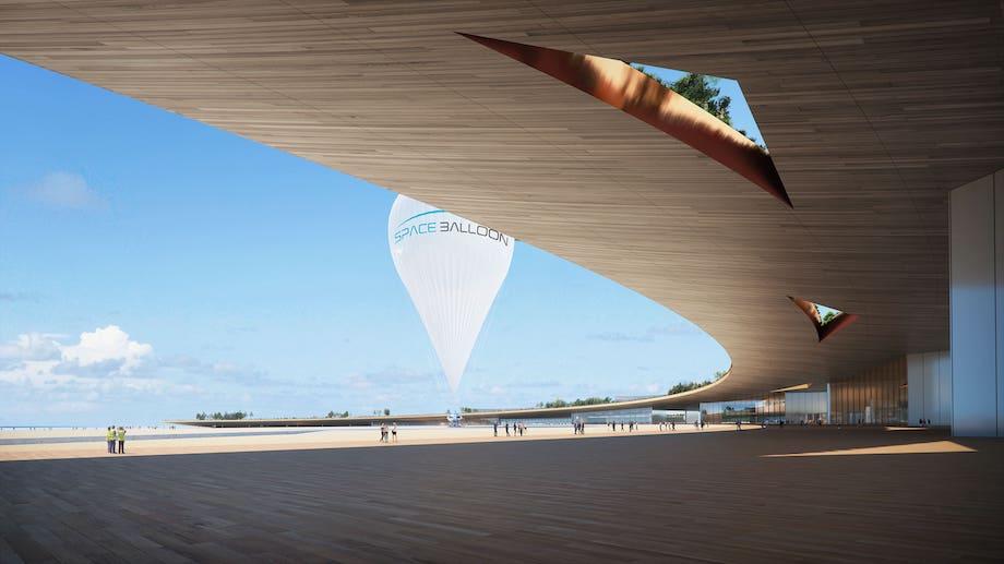 スペース・バルーン「スペースポートIBARAKI宇宙港」コンセプトイメージ(デザイン協力:永山祐子)