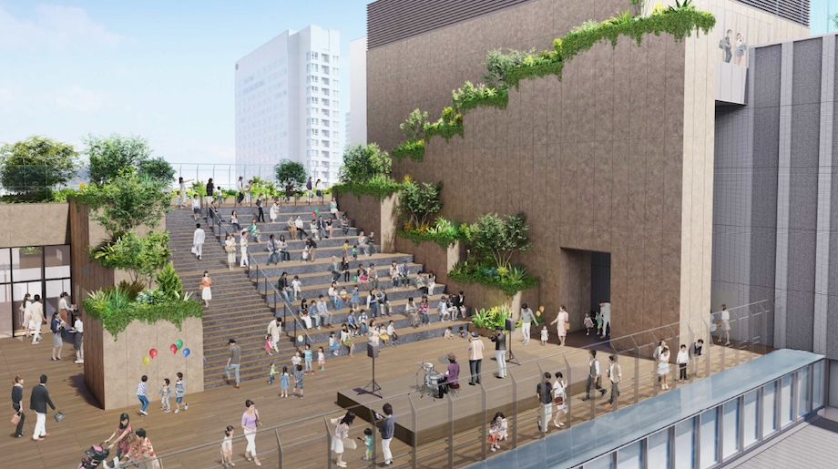 広島新駅ビル計画(広場デザイン監修:SUPPOSE DESIGN OFFICE)