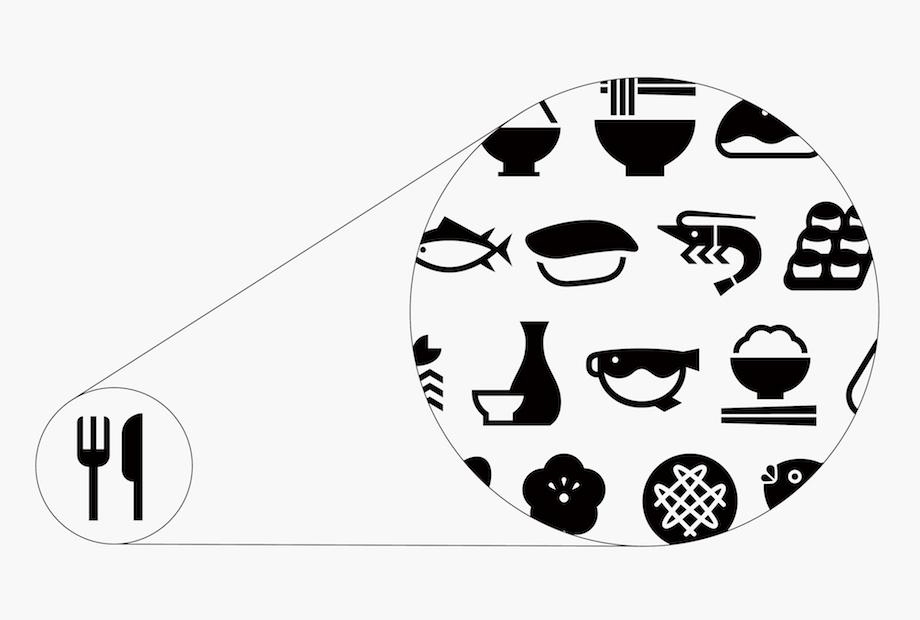 ピクトグラム〈EXPERIENCE JAPAN PICTOGRAMS〉デザイン:日本デザインセンター / 大黒大悟