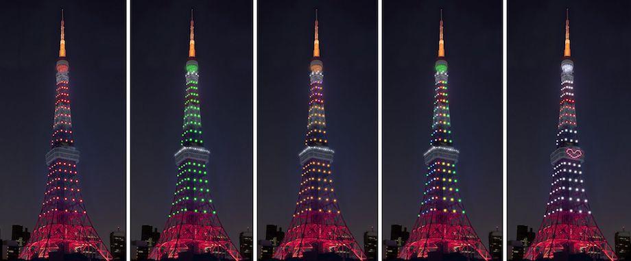 東京タワー「インフィニティ・ダイヤモンドヴェール」イベントライトアップ