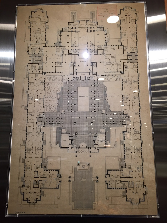 フランク・ロイド・ライト設計 旧帝国ホテル 平面図