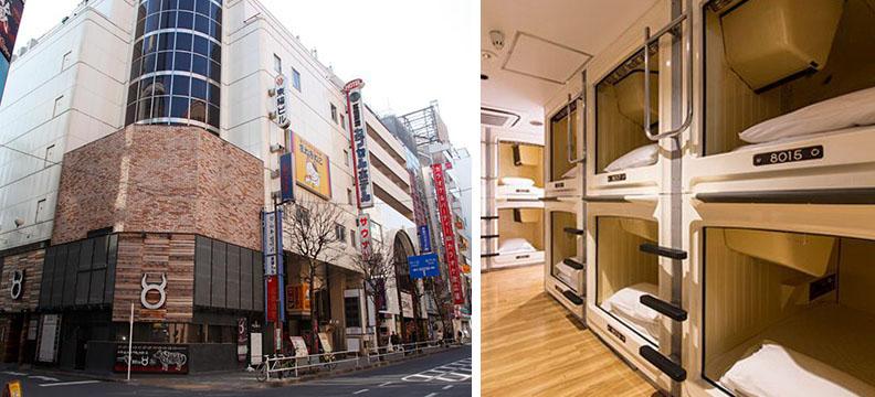 ナインアワーズ再生事業1号案件「新宿区役所前カプセルホテル」