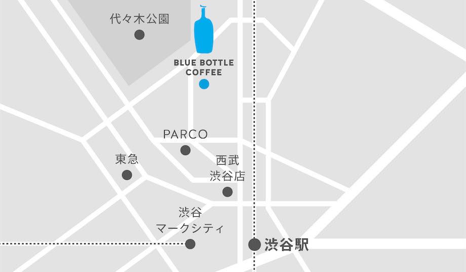 〈ブルーボトルコーヒー 渋谷カフェ〉Map