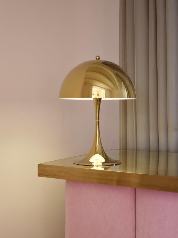 ルイスポールセン「パンテラ テーブル 320」真鍮メタライズド