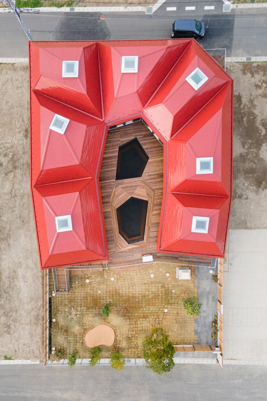 チームラボアーキテクツ設計〈キッズラボ南流山園〉俯瞰