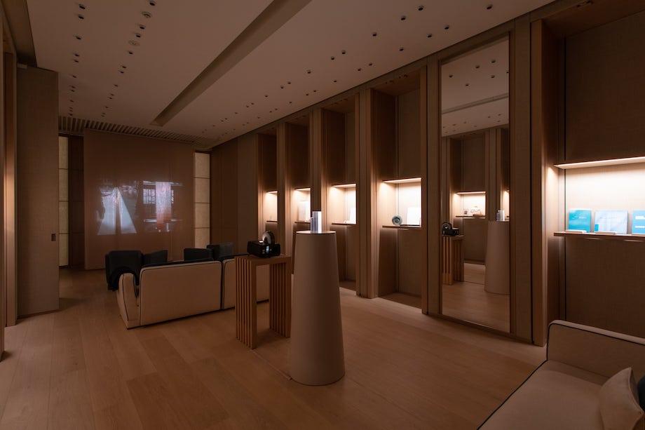 「青木淳展 – The Touch Of Architecture」ロロ・ピアーナ 銀座店 4階VIPルーム