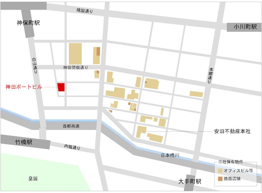 神田錦町〈神田ポートビル〉エリアマップ