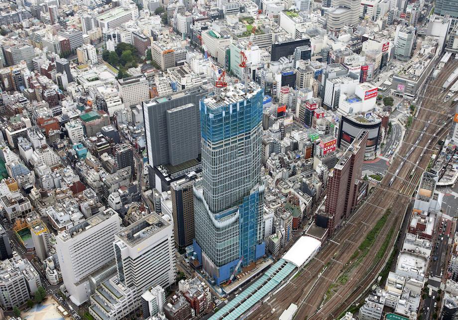 歌舞伎町一丁目地区開発計画(新宿TOKYU MILANO再開発計画)空撮