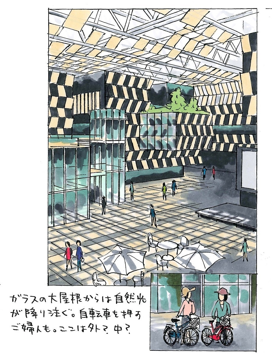 宮沢 洋著『隈研吾建築図鑑』収録イラスト