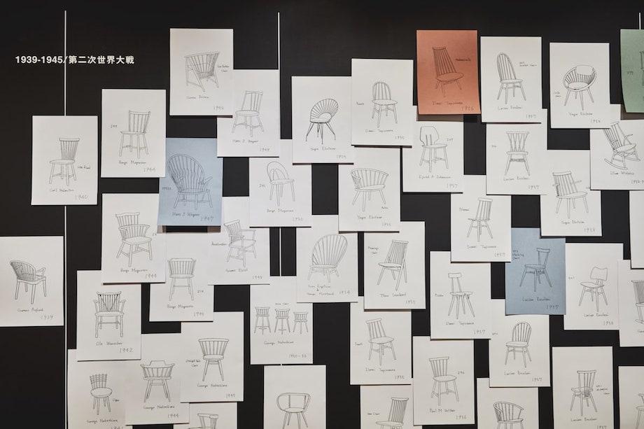 「長く生きる。ウィンザーチェアの場合 展《Windsor Department》の10年」 会場風景