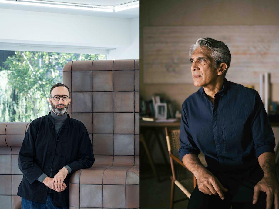 左:ダヴィッド・グレットリ / 右:ビジョイ・ジェイン氏