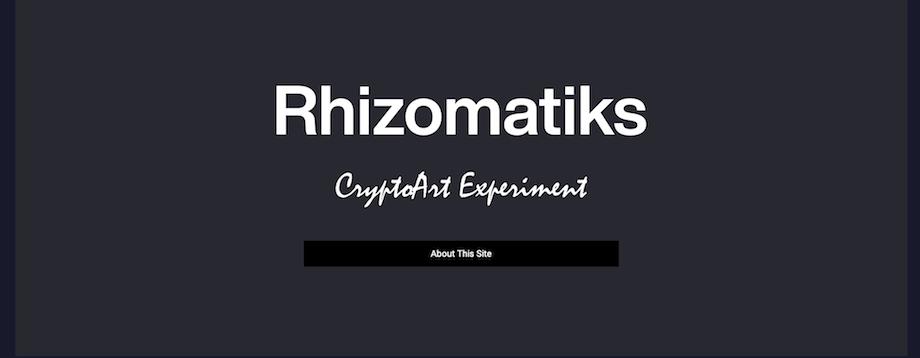 ライゾマティクス(Rhizomatiks)「CryptoArt Experiment」