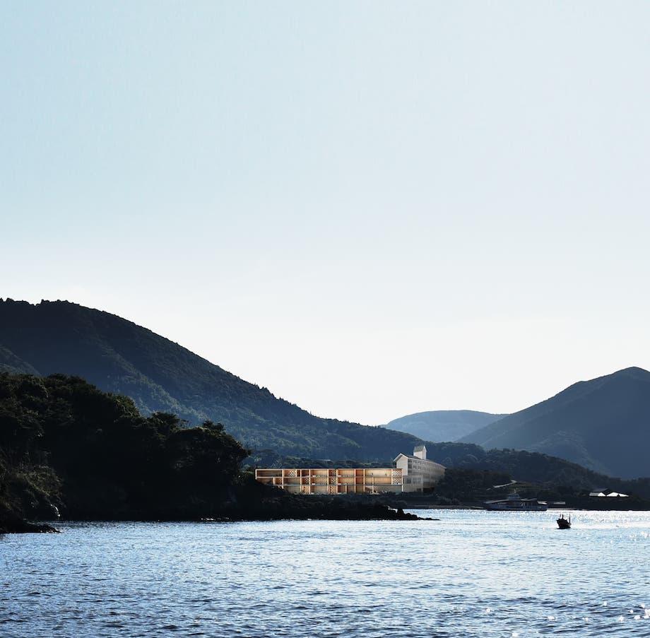 隠岐ジオパーク 新施設〈Entô(エントウ)〉遠景イメージ