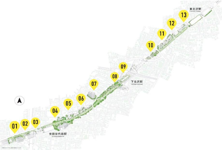 「下北線路街」全体MAP