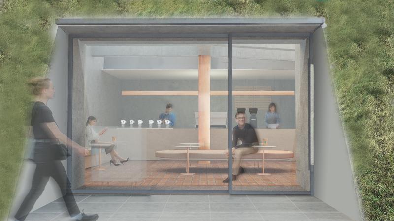 芦沢啓治建築設計事務所〈ブルーボトルコーヒー 白井屋カフェ〉