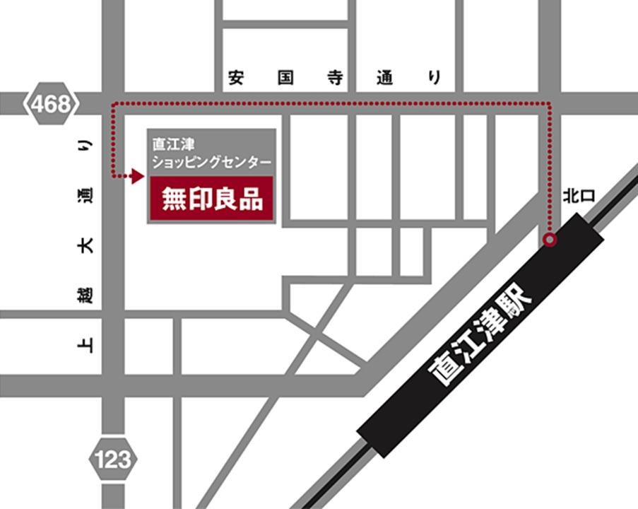 無印良品 直江津店「まちの保健室」MAP