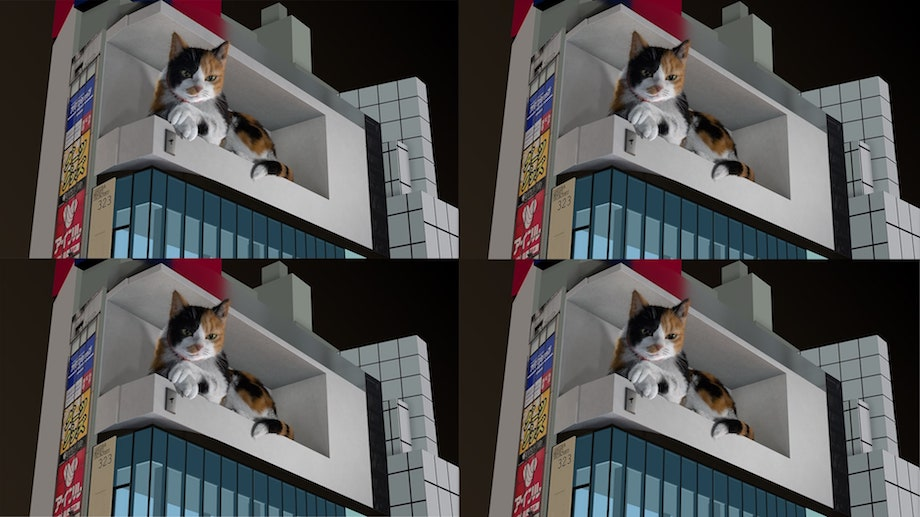 新宿東口の猫 / 3D巨大猫メイキング