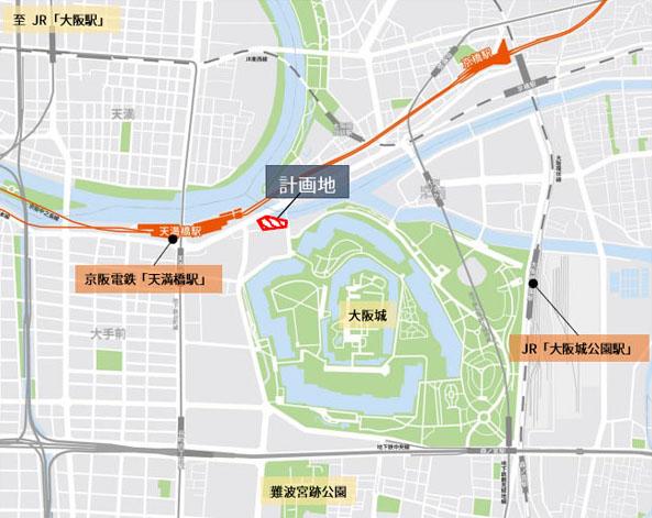大阪・大手前一丁目プロジェクト エリアマップ