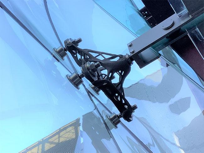 清水建設 3次元曲面ガラススクリーン構法