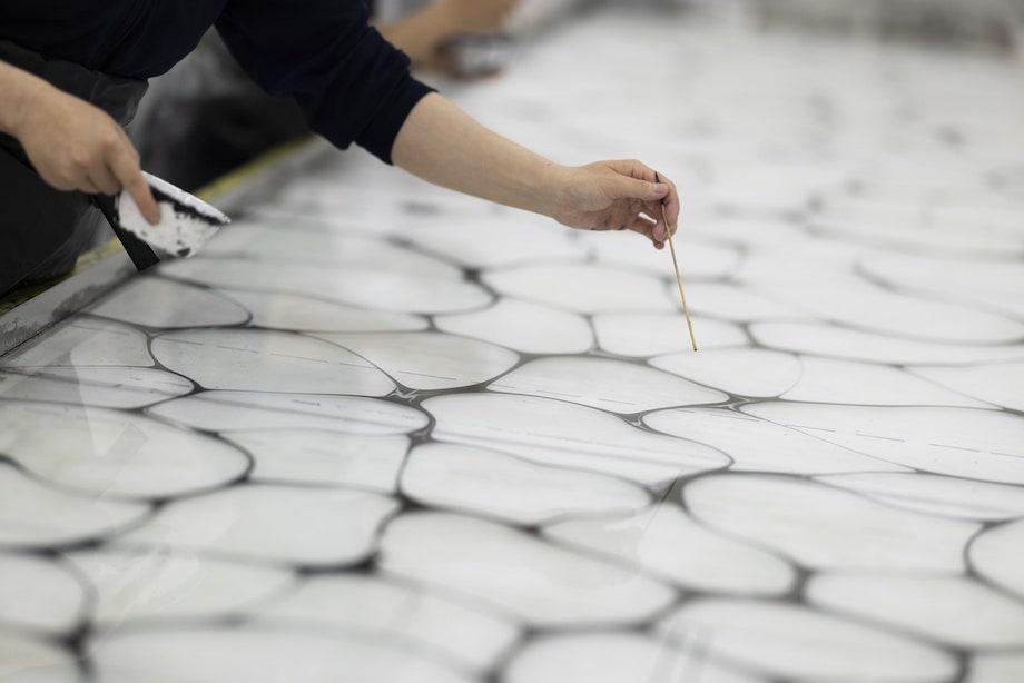 ISSEY MIYAKE KYOTO KURA展「墨流し」