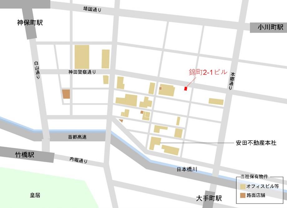 神田錦町〈naoto.K〉エリアマップ