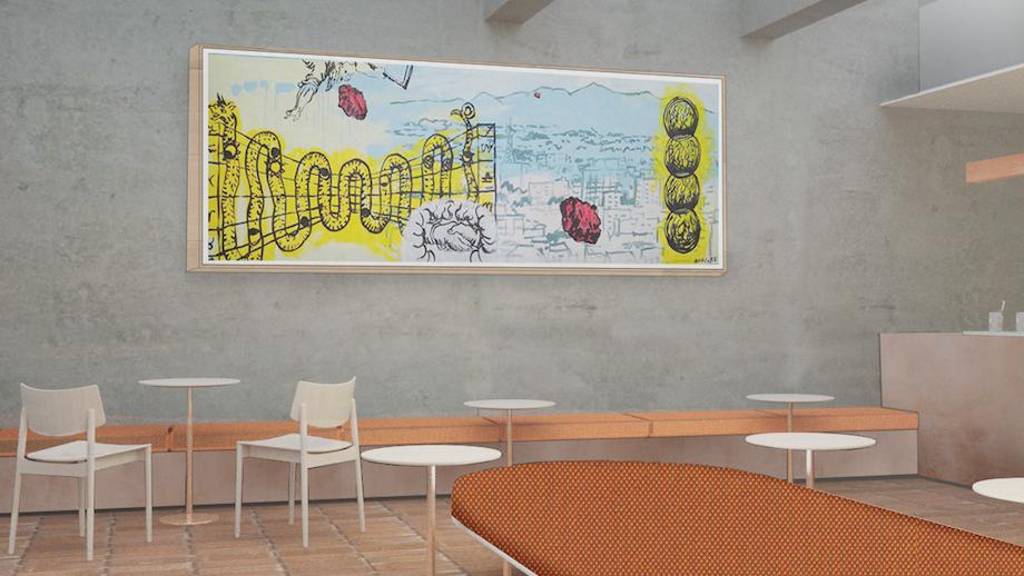 芦沢啓治建築設計事務所〈ブルーボトルコーヒー 白井屋カフェ〉内観