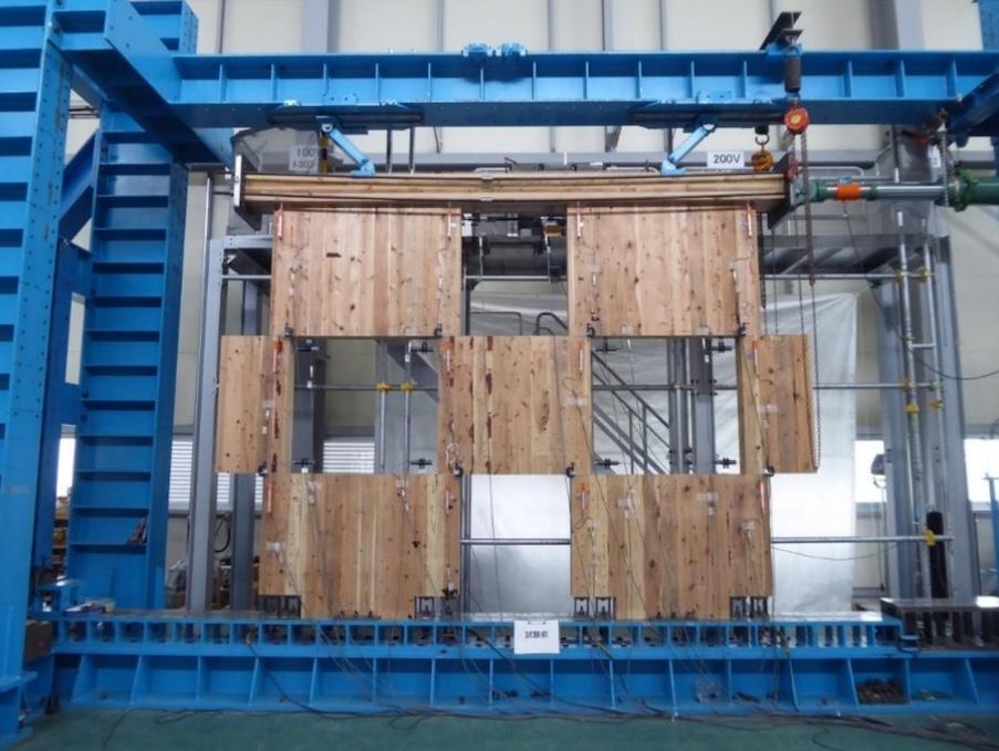 木製パネル耐震壁「CLT市松ブロック壁」
