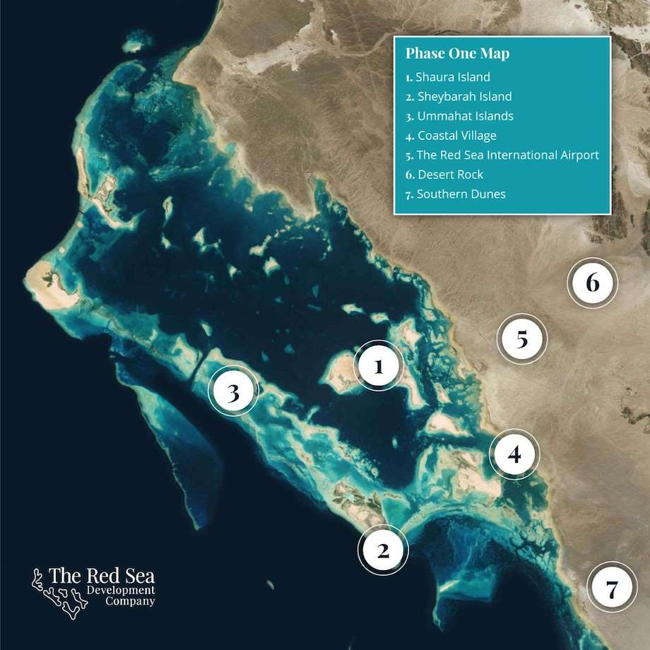 The Red Sea Project 広域マップ