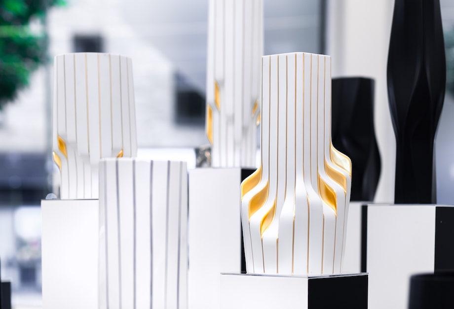 ZHAxRosenthal〈Weave Strip Lapp Vases〉©︎ZHA